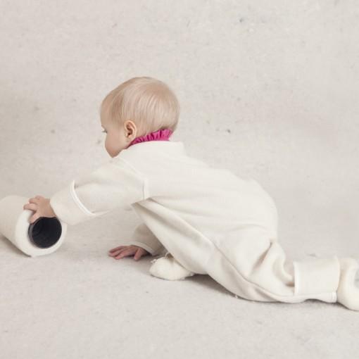 Baby ulddragt uden hætte med barn
