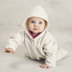 Baby ulddragt med hætte