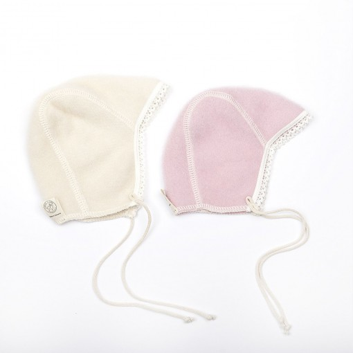 Cap lace white, pink