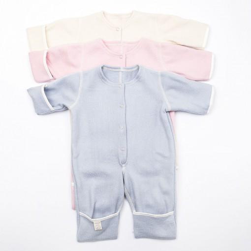 Babysuit without hood pink, blue