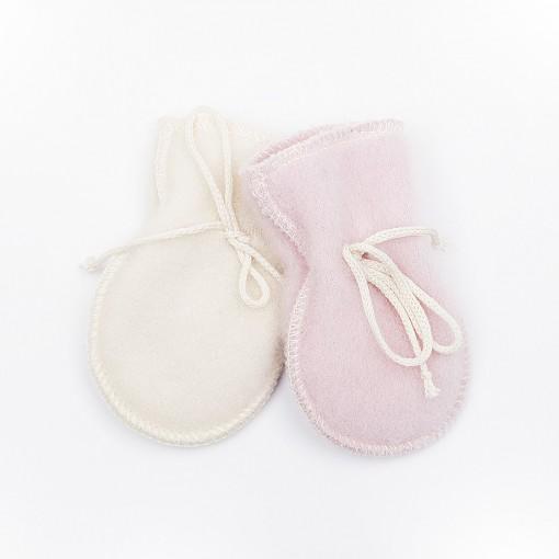 Mittens white,pink